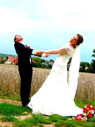 Hochzeitspaar Dave und Vanessa, 2014.
